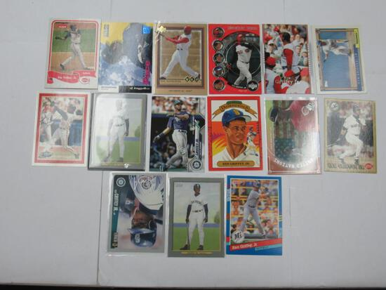 15 Card Lot of KEN GRIFFEY JR Seattle Mariner Baseball Cards from Collection