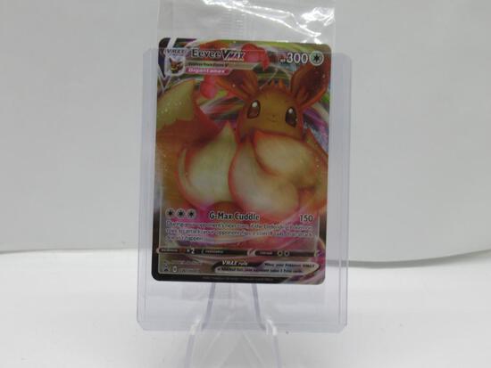 2021 Factory Sealed Pokemon Promo EEVEE VMAX SWSH087 Full Art Holofoil Trading Card