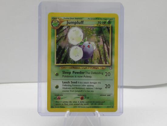 1999 Pokemon Neo Genesis #7 JUMPLUFF Holofoil Rare Trading Card