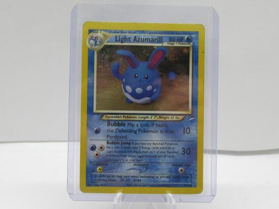 2001 Pokemon Neo Destiny #13 LIGHT AZUMARILL Holofoil Rare Trading Card