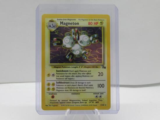 1999 Pokemon Fossil #11 MAGNETON Holofoil Rare Trading Card