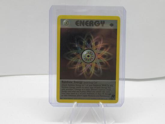 2000 Pokemon Team Rocket 1st Edition #17 RAINBOW ENERGY Holofoil Rare Energy Card