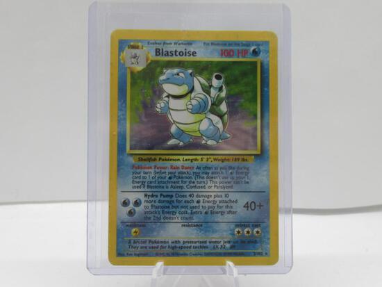 1999 Pokemon Base Set Unlimited #2 BLASTOISE Holofoil Rare Trading Card