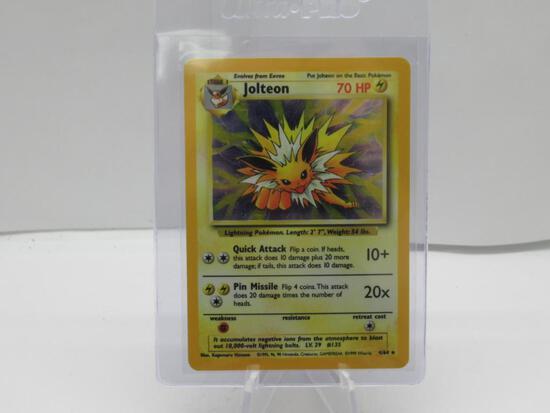 Pokemon Card SUPER RARE Jolteon No Symbol Error Jungle