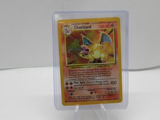 HOLO Base Set Charizard Pokemon card green wings charizard great for collection!!!