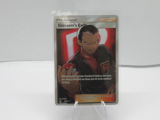 Pokemon Card Giovanni's Exile Full Art Ultra Rare Pokemon Hidden Fates