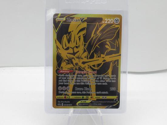 Pokemon Card Zacian V Collector's Edition Black Star Promo Gold Card