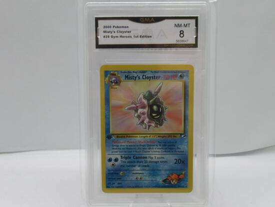 GMA GRADED POKEMON 2000 MISTY'S CLOYSTER #29 GYM HEROES 1ST EDITION NM-MT 8