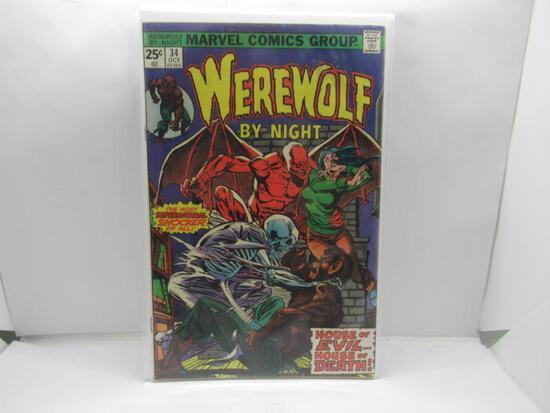 Marvel Comics WEREWOLF BY NIGHT #34 Vintage KEY ISSUE Bronze Age Comic Book