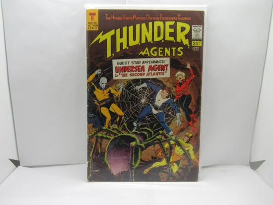 Tower Action Series THUNDER AGENTS #13 Silver Age Key Comic Book from Cool Collection