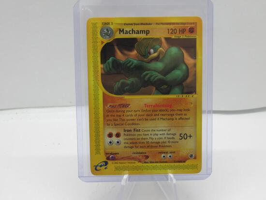 2002 Pokemon Expedition #51 MACHAMP Black Star Rare Trading Card