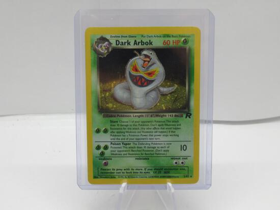 2000 Pokemon Team Rocket #2 DARK ARBOK Holofoil Rare Trading Card
