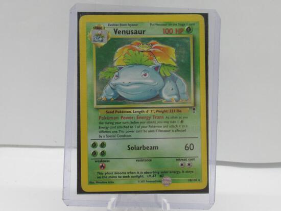 2002 Pokemon Legendary Collection #18 VENUSAUR Holofoil Rare Trading Card