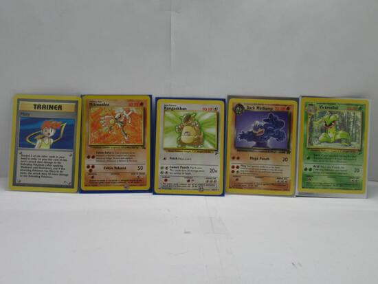 Vintage Lot of 5 WOTC BLACK STAR RARE Pokemon Trading Cards from Massive Collection