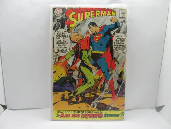 Vintage DC Comics SUPERMAN #205 Silver Age Comic Book from Estate Collection