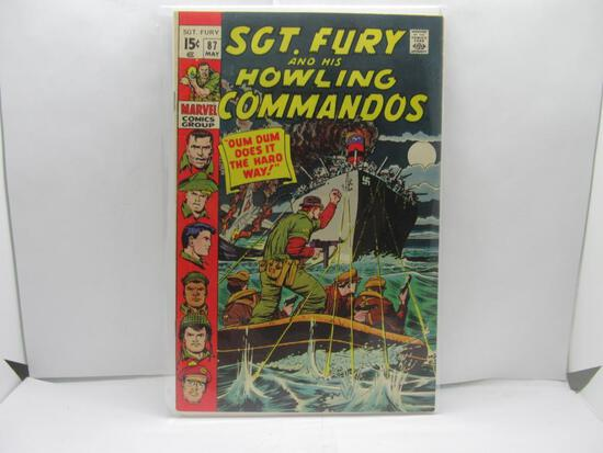 Vintage Marvel Comics SGT FURY #87 Bronze Age Comic Booko from Estate Collection