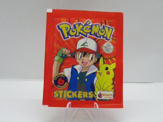 Factory Sealed 1999 POKEMON STICKERS 6 Sticker Vintage Pack