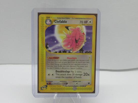 2002 Pokemon Expedition #41 CLEFABLE Black Star Rare Trading Card