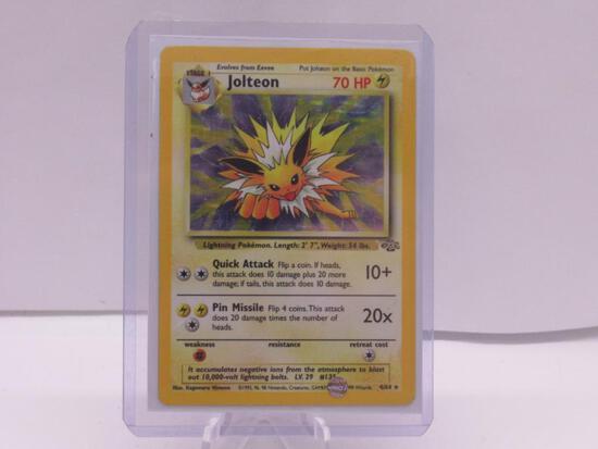 1999 Pokemon Jungle Unlimited #4 JOLTEON Holofoil Rare Trading Card
