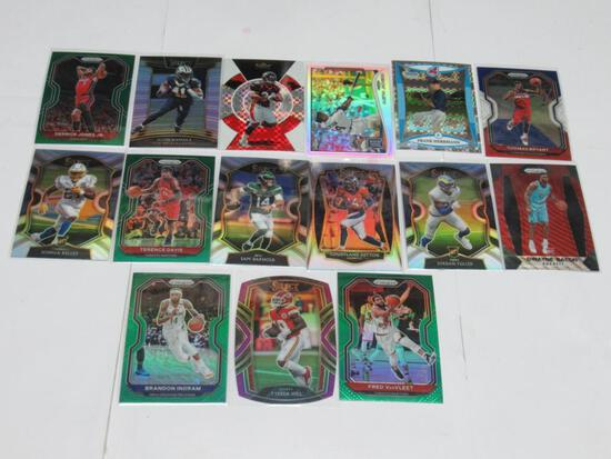 15 Card Lot of Sports Card REFRACTORS and PRIZMS with Stars and Rookies