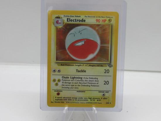 1999 Pokemon Jungle Unlimited #2 ELECTRODE Holofoil Rare Trading Card