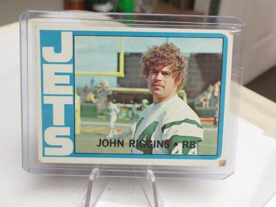 1972 Topps #13 JOHN RIGGINS Jets Redskins ROOKIE Vintage Football Card