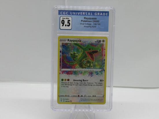 CGC Graded 2020 Pokemon Vivid Voltage #138 RAYQUAZA Amazing Rare Holofoil - GEM MINT 9.5