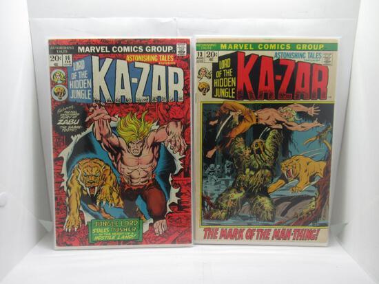 Astonishing Tales #13 & 16 Jim Starlin Kazar Bronze Age Marvel 1973