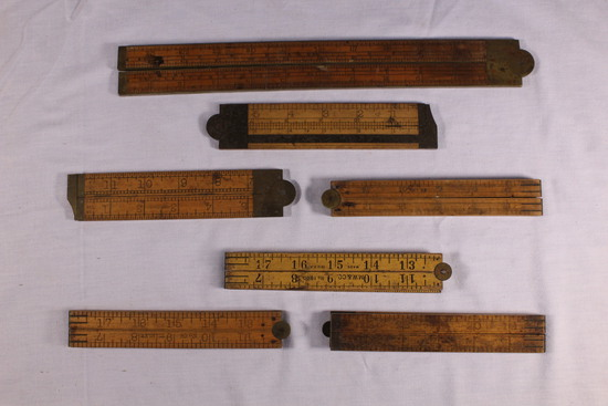 Early Brass Bound Folding Rulers