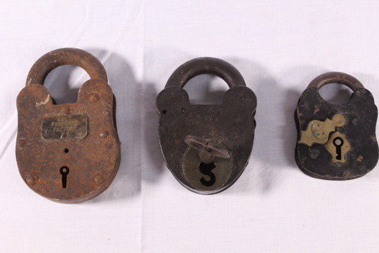 Lot of Early Antique Locks