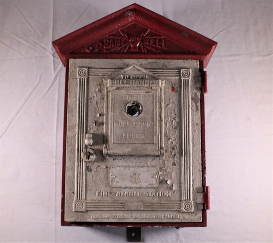 Antique Gamewell Cast Iron Fire Alarm Box