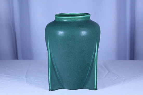 Art and Craft Style Matte Green Vase