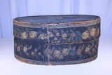 Large Oval Paint Decorated Brides Box
