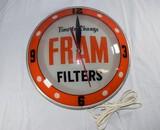 Vintage FRAM Filters Wall Clock