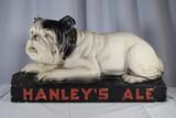 Vintage Hanley's Ale Chalkware Sign