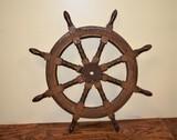 Large New England Ships Wheel