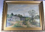 Early Country Painting on Canvas