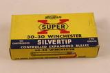 Vintage Western Super X 30-30 Winchester Silvertip Ammo in Original Box
