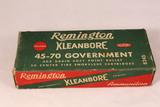 Vintage Remington Kleanbore 45-70 Government Ammo No 8245