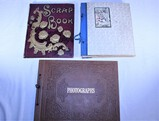 Three Books of Vintage Postcards, Newspaper Clippings and Greeting Cards