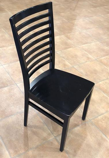 Black wooden chairs 5x the bid
