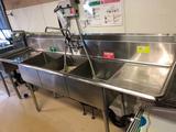 3-tub SS Sink