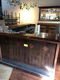 Corner Hardwood Bar