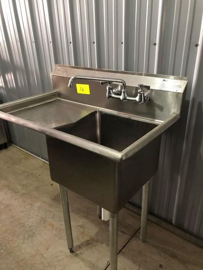 Stainless single-tub sink