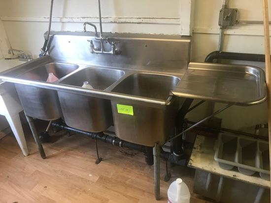 3 bay Stainless Steel sink.