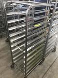 Smaller 61 inch Bakery Cart stainless steel