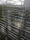 Bakery Rack on casters, stainless, approx 72 inches tall