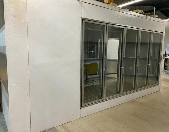 16'x14' Walk-In Cooler w/5' wide door and side access doors
