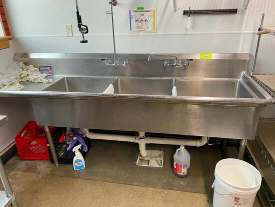 3-tub Stainless Sink
