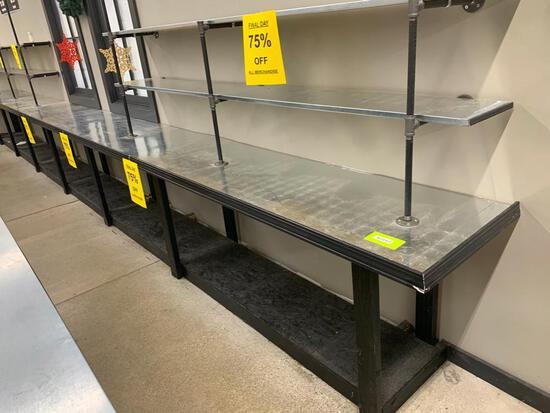 Wall Shelves w/stainless shelves